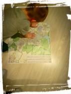 Kolejny pomysł aby zainteresować Adasia :) Mapa Tychów