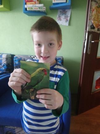 Adaś dostał od swych przyjaciół kartę z Etiopii :)
